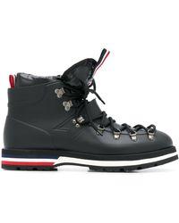 Moncler Blanche Combat Boots - Black