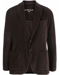 Circolo 1901 Corduroy Blazer Jacket - Brown