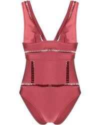Zimmermann Eyelet-trimmed Swimsuit - Red