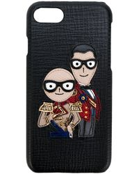 Dolce & Gabbana Military Designer's Patch Iphone 7 Case - Black