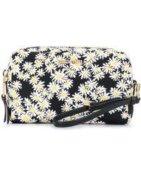 Miu Miu Daisy-print Wash Bag - Black
