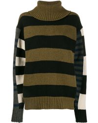 Colville Bold Striped Sweater - Green