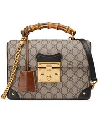 Gucci Padlock GG Small Bamboo Shoulder Bag - Multicolor