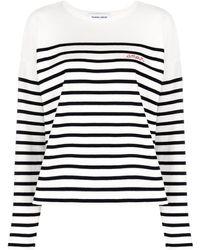 Maison Labiche Amour Striped Sweater - Blue
