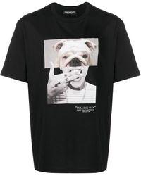 Neil Barrett Bulldog-man Print T-shirt - Black