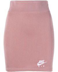 Nike Ribbed-knit Tank Skirt - Red