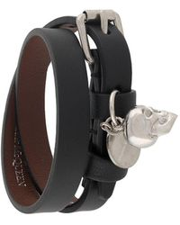 Alexander McQueen Double-wrapped Bracelet - Black