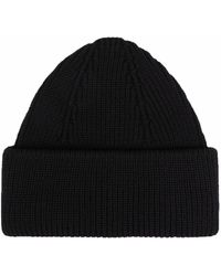 Roberto Collina Ribbed-knit Merino Wool Beanie - Black