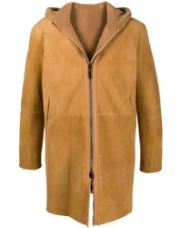 Tagliatore Lincoln Hooded Shearling Coat - Brown