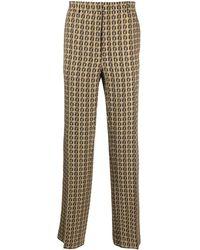 Fendi Ff-print Pants - Multicolour