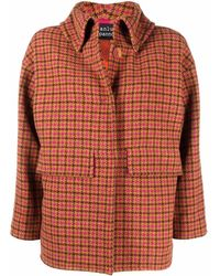 Gianluca Capannolo Check-print Collared Jacket - Brown