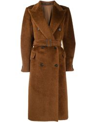 Tagliatore - Jole Textyred Double-breasted Coat - Lyst