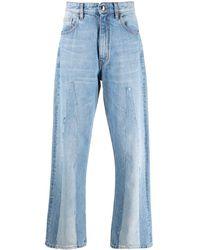 Marni Frayed Straight-leg Jeans - Blue