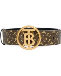 Burberry Circular Clasp Tb Monogram Belt - Multicolour
