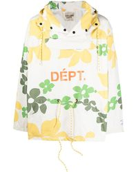 GALLERY DEPT. Floral-print Hooded Jacket - Multicolour