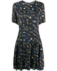 Love Moschino Star Print Midi Dress - Black