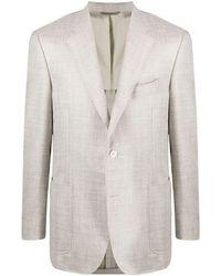 Canali Single-breasted Tailored Blazer - Multicolour
