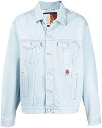 Tommy Hilfiger - Logo-embroidered Denim Jacket - Lyst