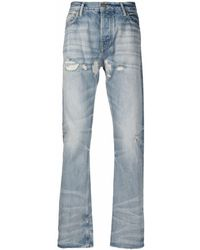 Fear Of God Faded Denim Jeans - Blue