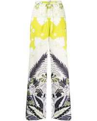 Valentino Floral-print Pants - Green