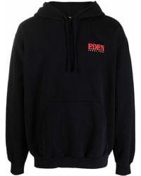 EDEN power corp Logo-print Recycled Cotton Hoodie - Black