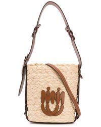 Miu Miu Logo Patch Bucket Bag - Multicolour