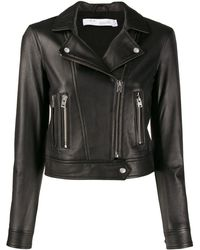 IRO Cropped Biker Jacket - Black