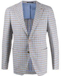 Tagliatore Checked Single Breasted Blazer - Multicolour