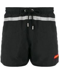 Heron Preston Reflective Stripe Swim Shorts - Black