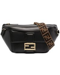 Fendi Baguette Logo-print Leather Belt Bag - Orange