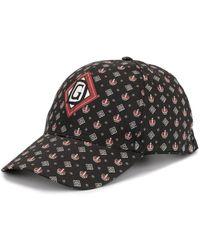 Dolce & Gabbana Crown Print Baseball Cap - Black