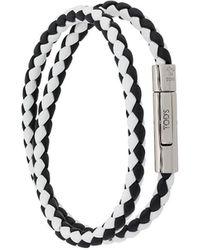 Tod's Braided Wrap Around Bracelet - Black