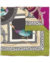 Ferragamo Duck Print Scarf - Purple