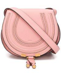 Chloé Mini Marcie Round Saddle Bag - Pink