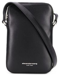 Alexander Wang Mini Logo Shoulder Bag - Black