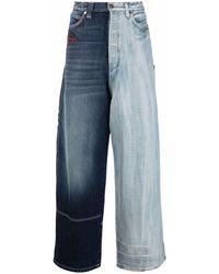 Balenciaga Panelled Wide-leg Jeans - Blue