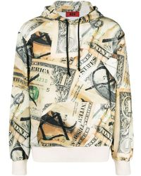 424 All-over Dollar-print Hoodie - Multicolour