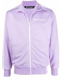 Palm Angels Side Stripe Track Jacket - Purple