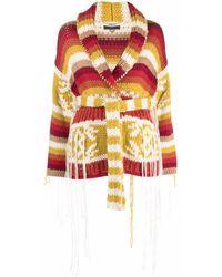 Alanui Intarsia-knit Cardi-coat - Multicolour