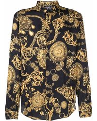 Versace Jeans Couture - Regalia Baroque-print Long-sleeve Shirt - Lyst