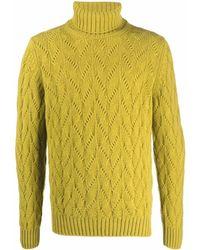 Tagliatore Roll-neck Virgin Wool Sweater - Green