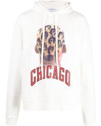 ih nom uh nit Chicago Graphic Print Hoodie - White