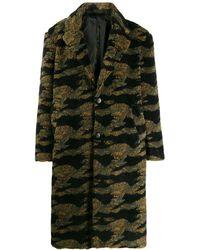 Buscemi Oversized Camouflage Coat - Green