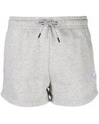 Nike Logo Detail Jersey Shorts - Grey
