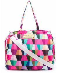 Formy Studio Geometric-print luggage Bag - Pink