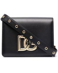 Dolce & Gabbana Logo-plaque Leather Belt Bag - Black