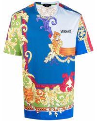 Versace Medusa Renaissance Print T-shirt - Blue