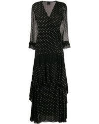 Pinko Polka-dot Wrap Dress - Black