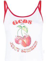 Gcds Logo Print Fruit Top - White