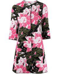 Charlott Floral Print Coat - Pink